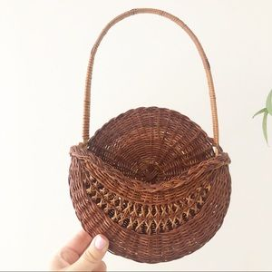 Wicker Hanging Wall Basket Plant Holder Boho Decor